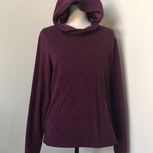 Old Nave fleece hoodie in plum